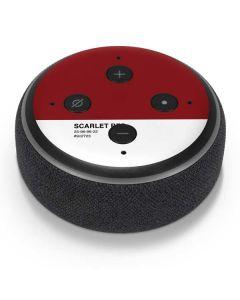 Scarlet Red Amazon Echo Dot Skin