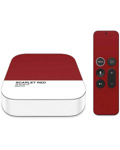 Scarlet Red Apple TV Skin