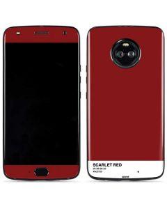 Scarlet Red Moto X4 Skin