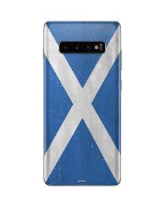 Scotland Flag Distressed Galaxy S10 Plus Skin