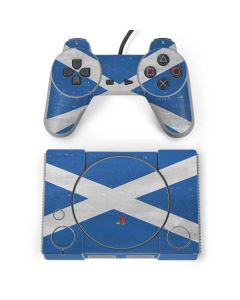 Scotland Flag Distressed PlayStation Classic Bundle Skin