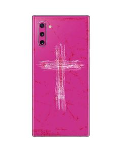 Scratched Cross Pink Galaxy Note 10 Skin