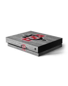 SDSU Aztecs Logo Xbox One X Console Skin