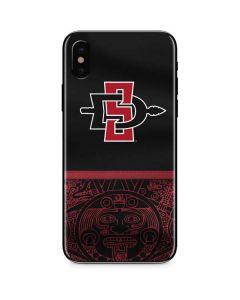 SDSU Tribal Print iPhone X Skin