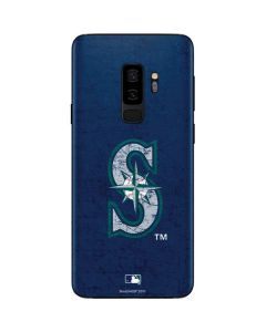 Seattle Mariners - Solid Distressed Galaxy S9 Plus Skin