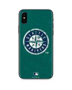 Seattle Mariners- Alternate Solid Distressed iPhone XS Max Skin