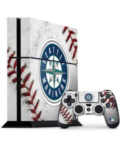 Seattle Mariners Game Ball PS4 Console and Controller Bundle Skin