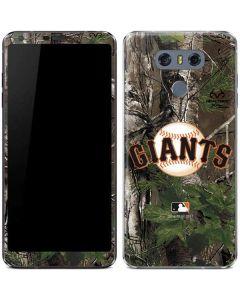 San Francisco Giants Realtree Xtra Green Camo LG G6 Skin