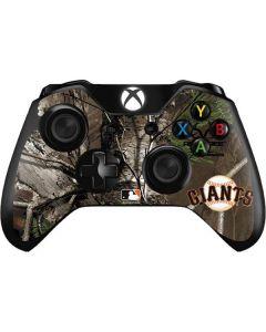 San Francisco Giants Realtree Xtra Green Camo Xbox One Controller Skin