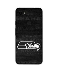 Seattle Seahawks Black & White Google Pixel 3a Skin