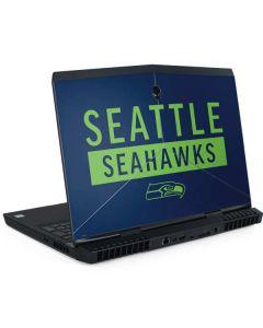 Seattle Seahawks Blue Performance Series Dell Alienware Skin