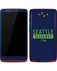 Seattle Seahawks Blue Performance Series Motorola Droid Skin