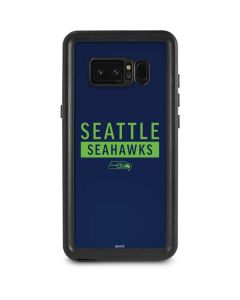Seattle Seahawks Blue Performance Series Galaxy Note 8 Waterproof Case