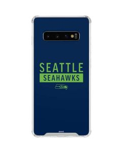 Seattle Seahawks Blue Performance Series Galaxy S10 Clear Case