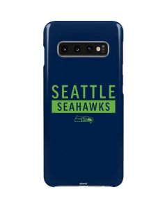 Seattle Seahawks Blue Performance Series Galaxy S10 Lite Case
