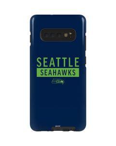 Seattle Seahawks Blue Performance Series Galaxy S10 Plus Pro Case
