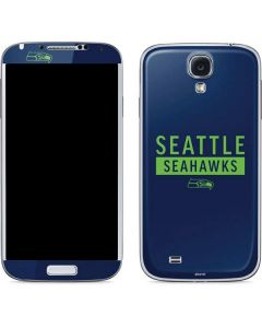 Seattle Seahawks Blue Performance Series Galaxy S4 Skin