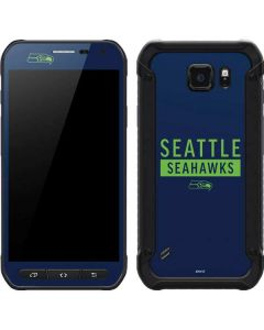 Seattle Seahawks Blue Performance Series Galaxy S6 Active Skin