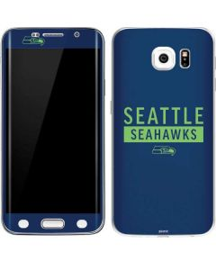 Seattle Seahawks Blue Performance Series Galaxy S6 Edge Skin