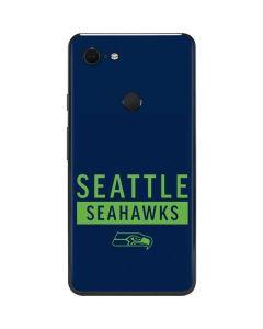 Seattle Seahawks Blue Performance Series Google Pixel 3 XL Skin