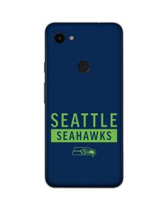 Seattle Seahawks Blue Performance Series Google Pixel 3a XL Skin
