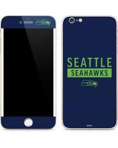 Seattle Seahawks Blue Performance Series iPhone 6/6s Plus Skin