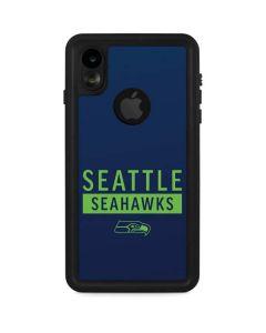 Seattle Seahawks Blue Performance Series iPhone XR Waterproof Case