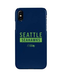 Seattle Seahawks Blue Performance Series iPhone XS Max Lite Case