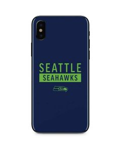 Seattle Seahawks Blue Performance Series iPhone XS Max Skin