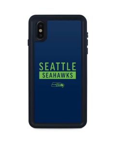 Seattle Seahawks Blue Performance Series iPhone XS Max Waterproof Case