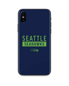 Seattle Seahawks Blue Performance Series iPhone XS Skin