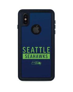 Seattle Seahawks Blue Performance Series iPhone XS Waterproof Case