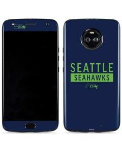 Seattle Seahawks Blue Performance Series Moto X4 Skin