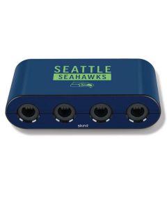 Seattle Seahawks Blue Performance Series Nintendo GameCube Controller Adapter Skin