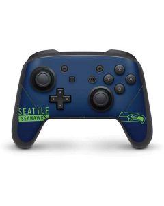 Seattle Seahawks Blue Performance Series Nintendo Switch Pro Controller Skin