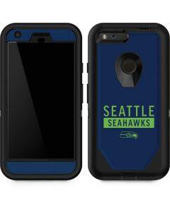 Seattle Seahawks Blue Performance Series Otterbox Defender Pixel Skin