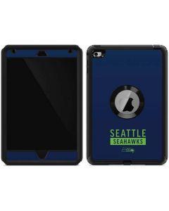Seattle Seahawks Blue Performance Series Otterbox Defender iPad Skin