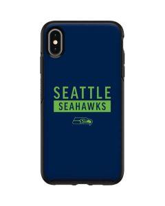 Seattle Seahawks Blue Performance Series Otterbox Symmetry iPhone Skin