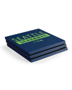 Seattle Seahawks Blue Performance Series PS4 Pro Console Skin