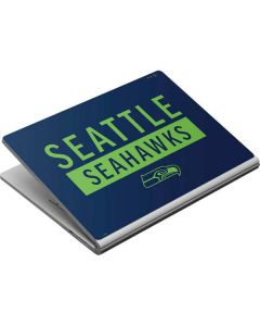 Seattle Seahawks Blue Performance Series Surface Book Skin