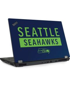 Seattle Seahawks Blue Performance Series Lenovo ThinkPad Skin