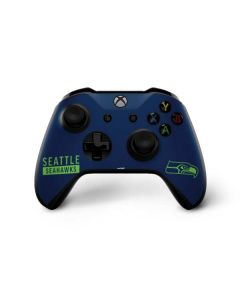 Seattle Seahawks Blue Performance Series Xbox One X Controller Skin