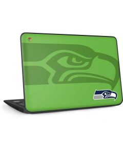 Seattle Seahawks Double Vision HP Chromebook Skin