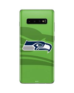 Seattle Seahawks Double Vision Galaxy S10 Plus Skin