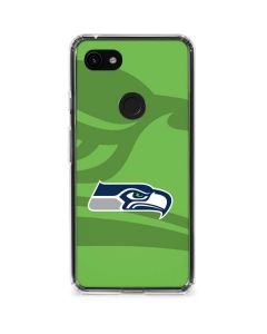 Seattle Seahawks Double Vision Google Pixel 3a Clear Case
