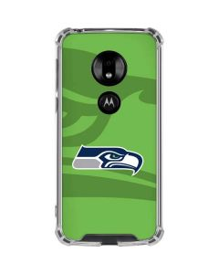 Seattle Seahawks Double Vision Moto G7 Play Clear Case