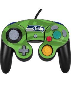 Seattle Seahawks Double Vision Nintendo GameCube Controller Skin