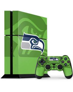 Seattle Seahawks Double Vision PS4 Console and Controller Bundle Skin