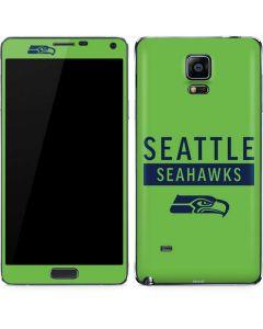 Seattle Seahawks Green Performance Series Galaxy Note 4 Skin
