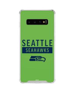 Seattle Seahawks Green Performance Series Galaxy S10 Clear Case